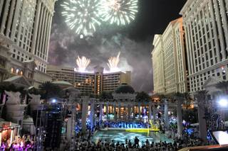 LAS VEGAS, NV - JUNE 12:  A general view at the closing night party for IPW 2013 at the Garden for the Gods pool at Caesars Palace on June 12, 2013 in Las Vegas, Nevada.  (Photo by Denise Truscello/WireImage)