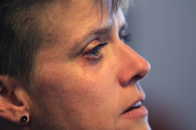 Graduate Stephanie Wuopio cries during the Hope for Prisoners graduation ceremony in Las Vegas on Friday, June 14, 2013. Hope for Prisoners provides intensive one week training for prisoners reentering society.