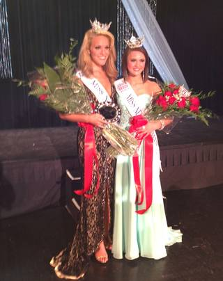 Diana Sweeney, left, is Miss Nevada 2013 and Katarina Clark is Miss Nevada Outstanding Teen.