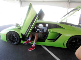 Carmelo Anthony at Exotic Racing on Father's Day, Sunday, June 16, 2013.