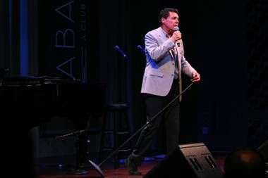 Clint Holmes performs during a performance of the Broadway-based open mic and variety show Cast Party Wednesday, June 19, 2013 at Cabaret Jazz at the Smith Center.