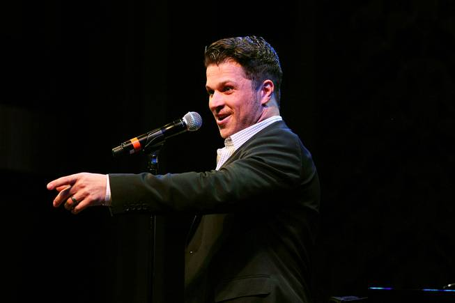 Mark Shunock sings during a performance of the Broadway-based open mic and variety show Cast Party on Wednesday, June 19, 2013, at Cabaret Jazz in Smith Center.