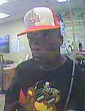 This suspect is wanted in a pair of Las Vegas bank robberies.