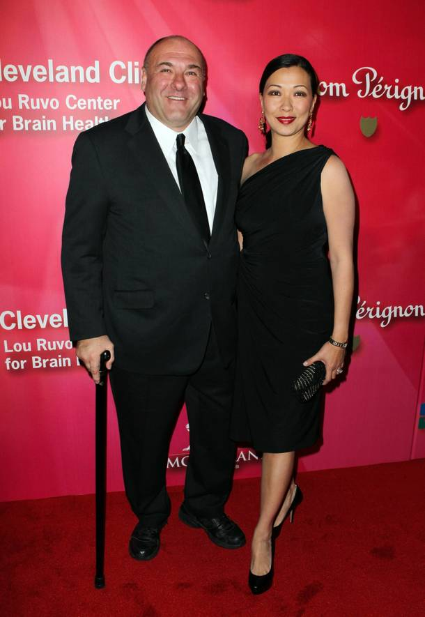 James Gandolfini arrives with his wife Deborah Lin at the Keep Memory Alive 16th Annual