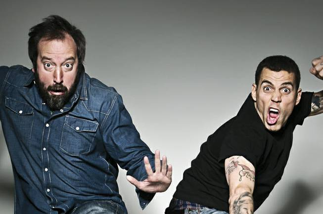 It's no joke: Tom Green and Steve-O hit Vinyl at Hard Rock Hotel.