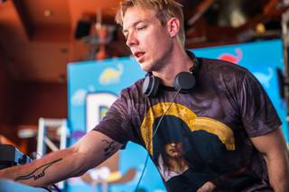 DJ Diplo at Encore Beach Club on Friday, June 21, 2013.