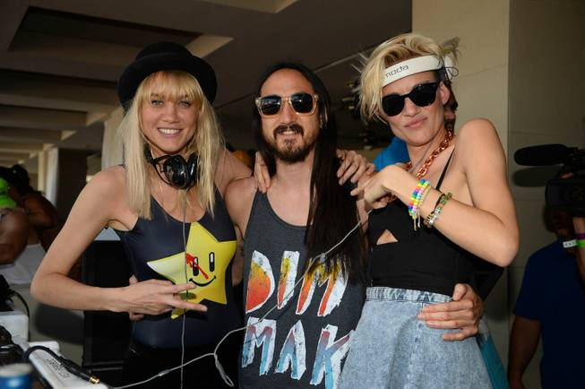 Nervo flanks Steve Aoki at Wet Republic in MGM Grand ...