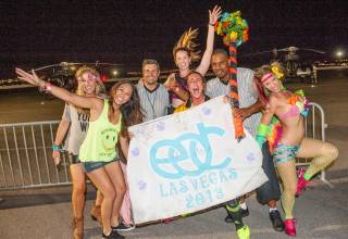 Revelers take in the fun at the Electric Daisy Carnival at the Las Vegas Motor Speedway Friday, June 21, 2013.
