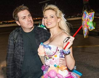 Holly Madison and Pasquale Rotella kick off the Electric Daisy Carnival at the Las Vegas Motor Speedway Friday, June 21, 2013.