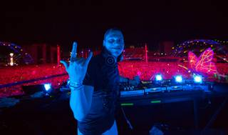 DJ Tiesto during Night 2 of the Electric Daisy Carnival on Saturday, June 22, 2013, at Las Vegas Motor Speedway.