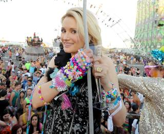 Holly Madison at the 2013 Electric Daisy Carnival at Las Vegas Motor Speedway on Sunday, June 23, 2013.