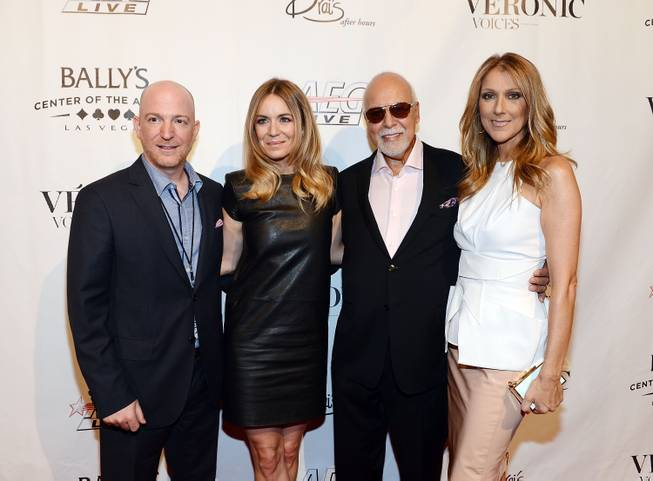 Remon Boulerice, Veronic Dicaire, Rene Angelil and Celine Dion arrive ...