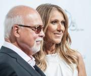 "Rene Angelil and Celine Dion arrive at the ""Veronic Voices"" premiere at Bally's on Friday, June 28, 2013."