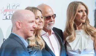Remon Boulerice, Veronic Dicaire, Rene Angelil and Celine Dion arrive at the
