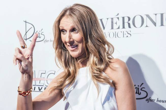 "Celine Dion arrives at the ""Veronic Voices"" premiere at Bally's on Friday, June 28, 2013."
