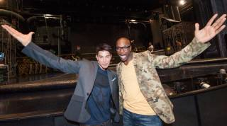 Backstage with writer-director Jamie King and Welby Altidor, director of creation, at Cirque du Soleil's