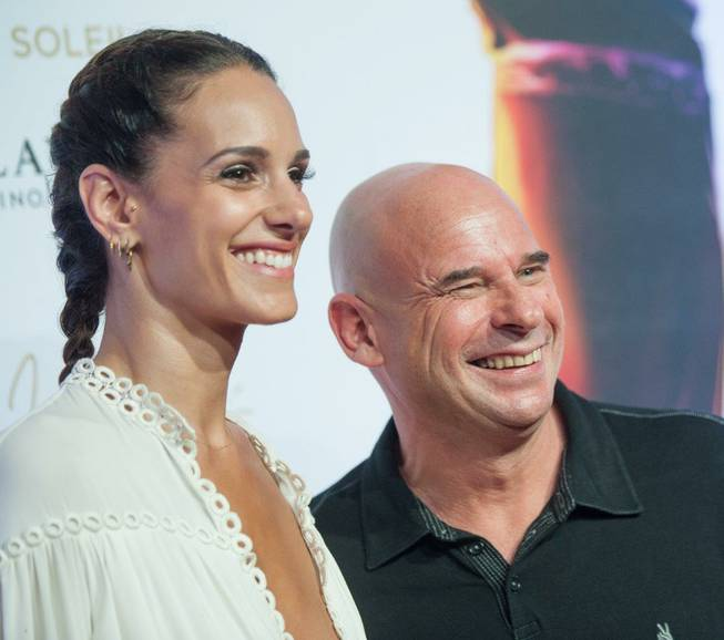 Claudia Barilla and Guy Laliberte arrive at the red carpet ...