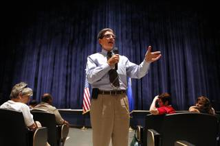 U.S. Rep. Joe Heck, R-Nev. speaks during a Town Hall at Windmill Library in Las Vegas on Tuesday, July 2, 2013.