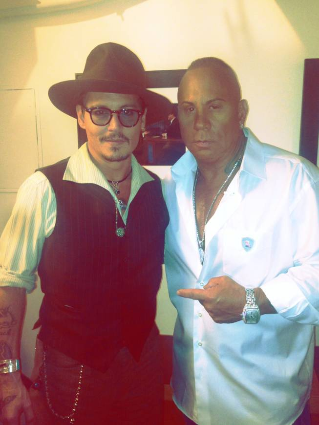 "Johnny Depp and Steve Martorano at ""Jimmy Kimmel Live"" on Monday, July 1, 2013."