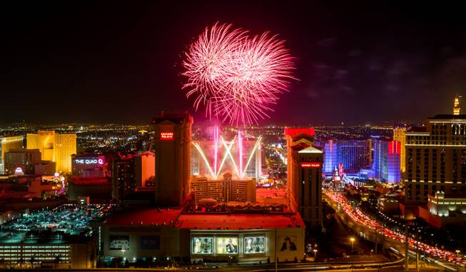 Fireworks at Caesars Palace on Thursday, July 4, 2013.