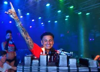 DJ Pauly D celebrates his 33rd birthday at Haze in Aria on Saturday, July 6, 2013.