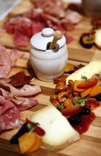 A charcuterie plate at FIVE50 Pizza Bar on Tuesday, July 9, 2013 inside Aria at CityCenter in Las Vegas.