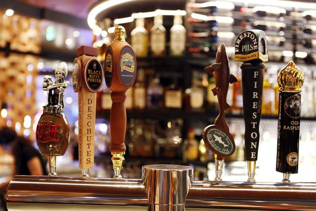 The beers on tap at FIVE50 Pizza Bar on Tuesday, July 9, 2013 inside Aria at CityCenter in Las Vegas.