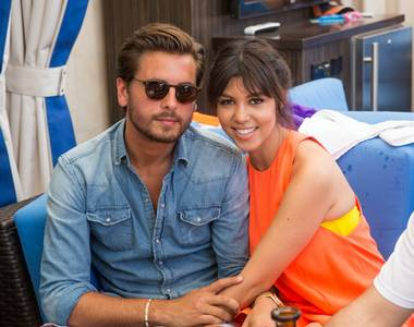 Scott Disick hosts at Sapphire Pool & Dayclub in Las Vegas on Saturday, July 6, 2013. Kourtney Kardashian surprised him at the new adult hotspot.