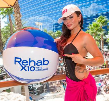 "Jenni ""JWoww"" Farley hosts the second weekend of the 2013 Rehab Bikini Invitational at The Hard Rock Hotel Las Vegas on Sunday, July 7, 2013."
