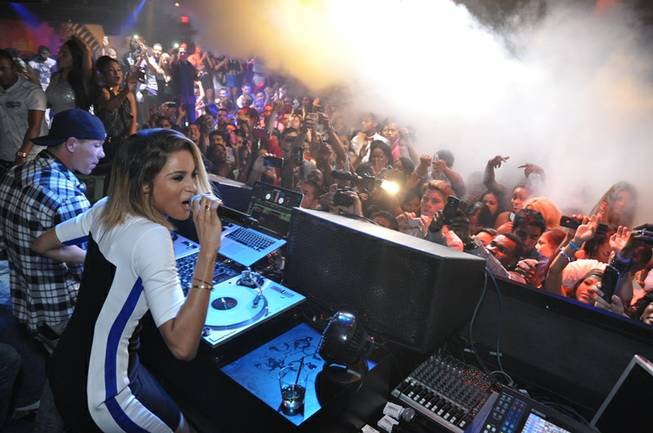 Ciara performs at 1OAK in The Mirage on Saturday, July 6, 2013.