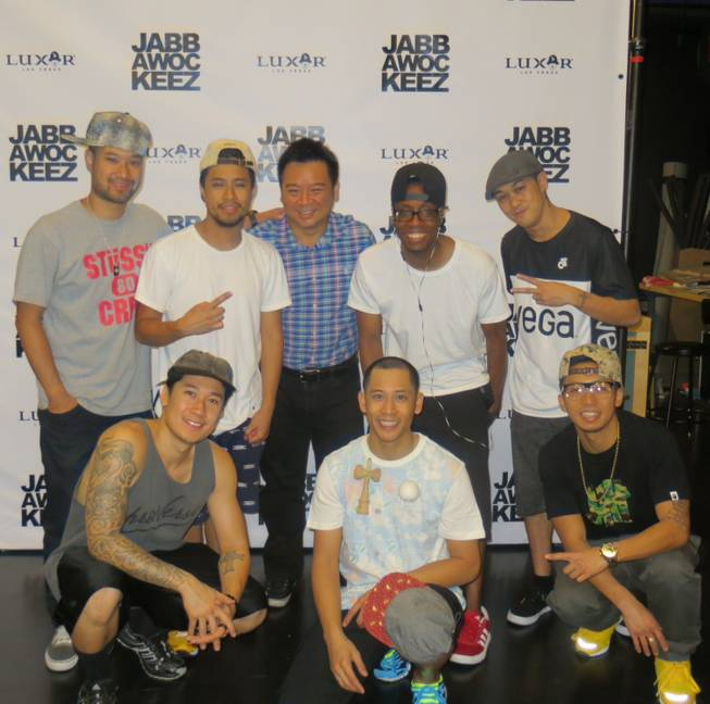 Rex Lee with the Jabbawockeez at the Monte Carlo.