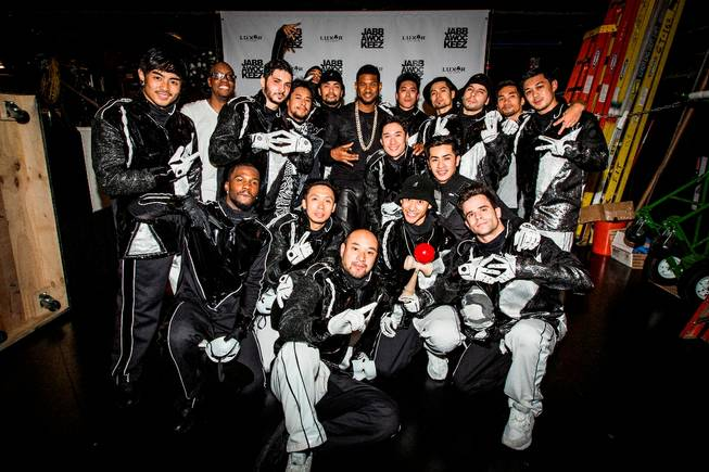 Usher with the Jabbawockeez at the Monte Carlo.