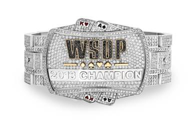 The 2013 World Series of Poker Main Event champion's bracelet made by Jason of Beverly Hills is valued at $500,000.