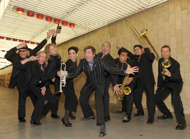 Louis Prima Jr. and his band in Downtown Las Vegas.