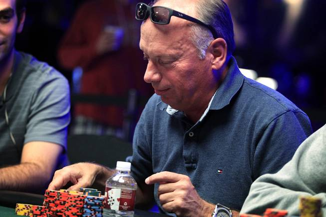 Dick van Lujik plays during the World Series of Poker Main Event on Thursday, July 11, 2013.