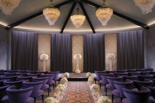 The Aria wedding chapel.