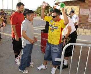 Soccer fans were patient with the extra security measures taken at Sam Boyd Stadium on Saturday afternoon as patrons were patted down, and all bags were searched prior to admission into the game.