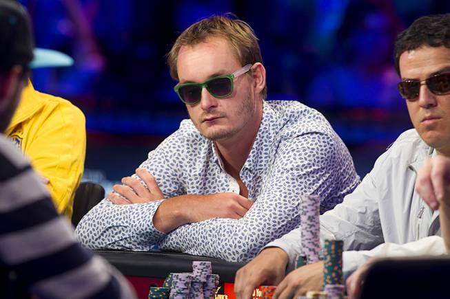 Michiel Brummelhuis of the Netherlands competes during the seventh day of the World Series of Poker $10,000 buy-in no-limit Texas Hold 'Em at the Rio Monday, July 15, 2013.