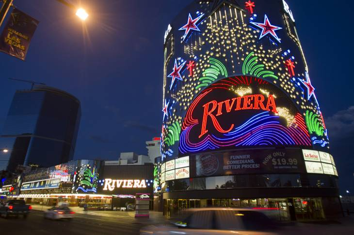 An exterior view of the Riviera on Monday, July 15, 2013.