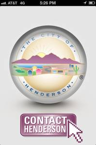 The Contact Henderson smartphone app