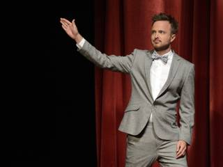 Actor Aaron Paul is seen at the 65th Primetime Emmy Nominations Announcements at the Leonard H. Goldenson Theatre at the Academy of Television Arts & Sciences, on Thursday, July 18, 2013 in North Hollywood, California.
