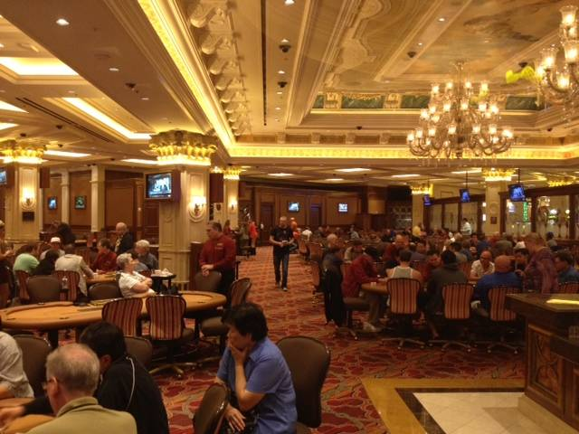 Venetian poker room buzzing with activity at 1:15 pm Monday, July 22, 2013.