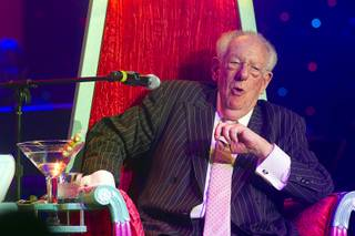 Roastee Oscar Goodman, former Las Vegas Mayor, reacts during