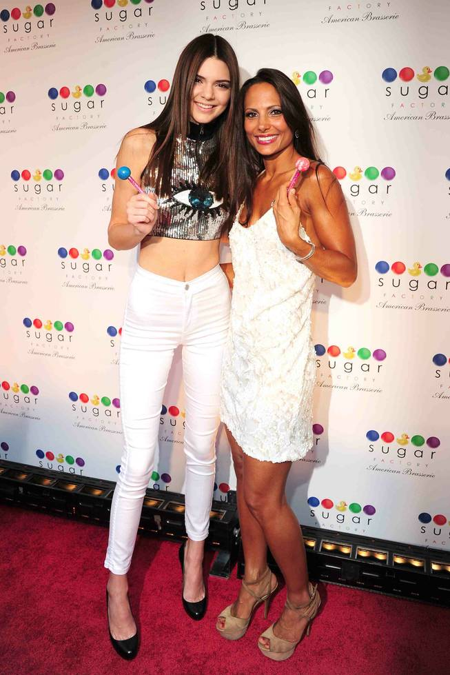 Kendall Jenner and Charissa Davidovici at Sugar Factory in New York City.