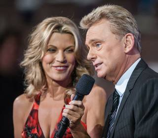 Pat Sajak and Vanna White record episodes of Season 31 of
