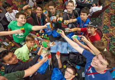 The 2013 Rubik's Cube World Championships at the Riviera from Friday, July 26, through Sunday, July 28, 2013.