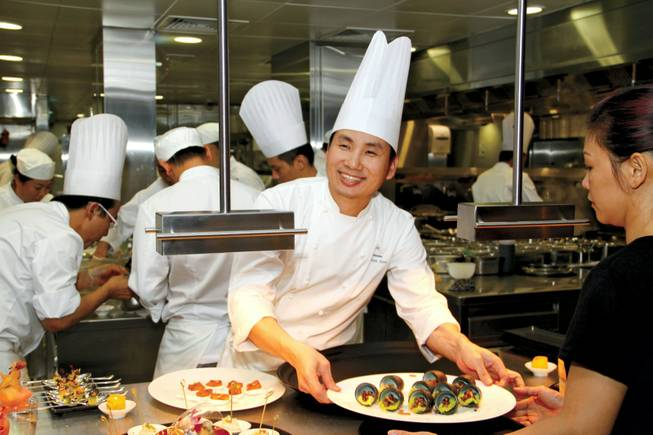 Chef Ho Chee Boon commands the Cantonese kitchen at Hakkasan.
