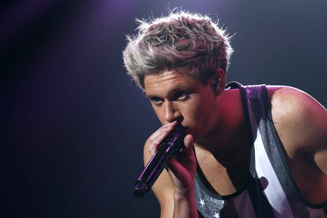 Niall Horan of One Direction performs at Mandalay Bay Events Center on Friday, Aug. 2, 2013.