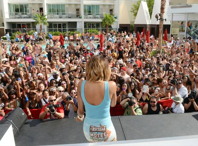 Ciara hosts and performs at Ditch Fridays at Palms Pool ...