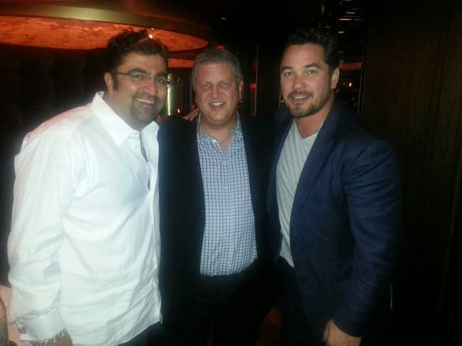Kia Jam, Derek Stevens and Dean Cain at Andiamo Italian Steakhouse at the D Hotel in downtown Las Vegas on Friday, Aug. 2, 2013.